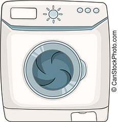 Cartoon Appliences Washing Machine - Cartoon Home Appliences...