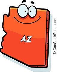 Cartoon Arizona - A cartoon illustration of the state of...