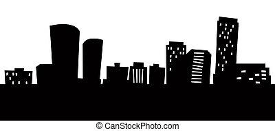 Cartoon Arlington - Cartoon skyline silhouette of Arlington,...