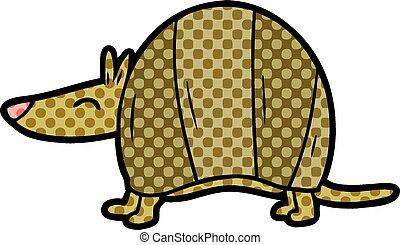 cartoon armadillo