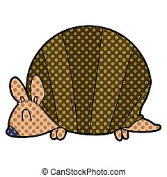 cartoon armadillo