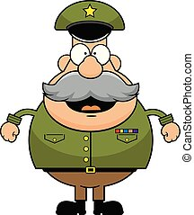Cartoon Army General Happy