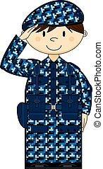 Cartoon Army Soldier