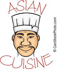 Cartoon asian cuisine chef character - Sushi chef cartoon...