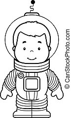 Cartoon Astronaut Boy