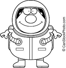 Cartoon Astronaut Smiling