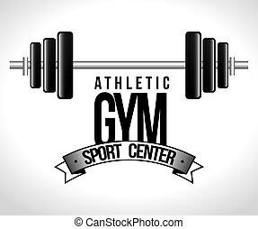 cartoon athletic gym fitness sport design