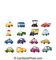 cartoon, automobilen