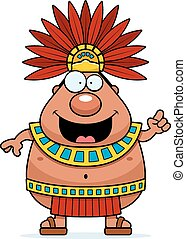 Cartoon Aztec King Idea