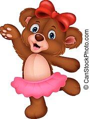 Cartoon baby bear dancing