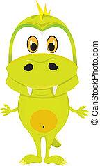 cartoon baby crocodile.