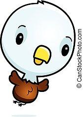 Cartoon Baby Eagle Flying