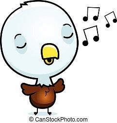 Cartoon Baby Eagle Singing