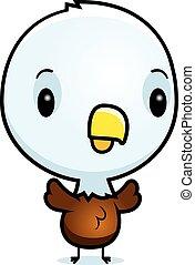 Cartoon Baby Eagle Standing