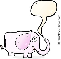 cartoon baby elephant with speech bubble