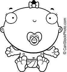 Cartoon Baby Girl Pacifier