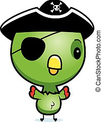 Cartoon Baby Parrot Pirate