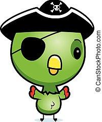 Cartoon Baby Parrot Pirate