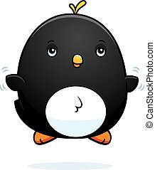 Cartoon Baby Penguin Fly