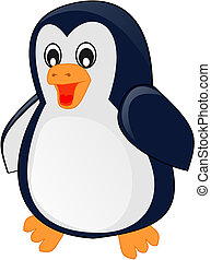 Cartoon baby penguin. illustration,