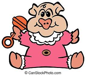 Cartoon Baby Pig