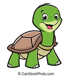 Cartoon Baby Turtle