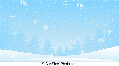 Cartoon background for Christmas and New Year. Cartoon 2D Animation 4k video footage. Seamless video looping. Cartoon animation, motion design, winter landscape, falling snow, snowflakes, copy space