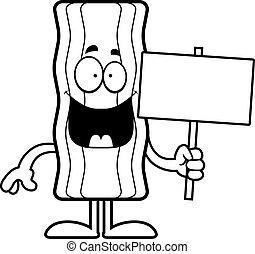 Cartoon Bacon Strip Sign