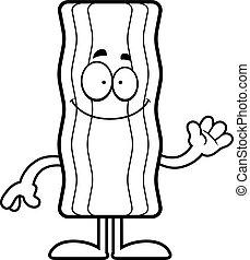 Cartoon Bacon Strip Waving
