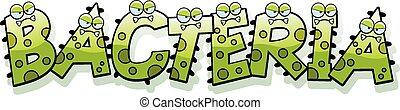 Cartoon Bacteria Text