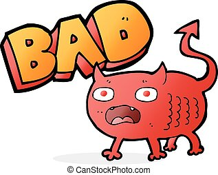 cartoon bad imp
