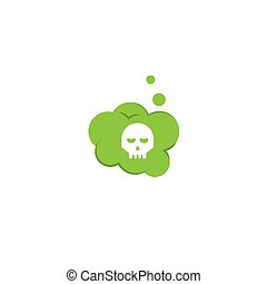 Toxic, deadly gas. Vector illustration
