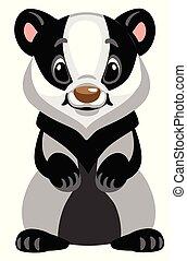 cartoon badger