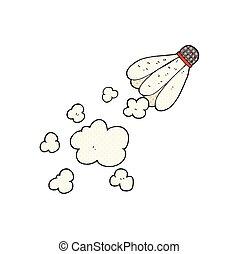 cartoon badminton shuttlecock - freehand drawn cartoon...
