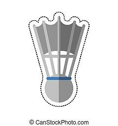 cartoon badminton shuttlecock sport