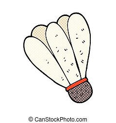 cartoon badminton