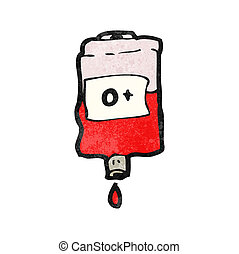 cartoon bag of blood