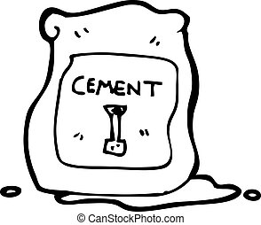 cartoon bag of cement