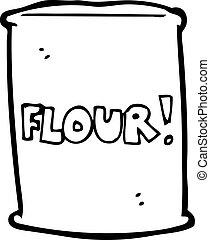 cartoon bag of flour