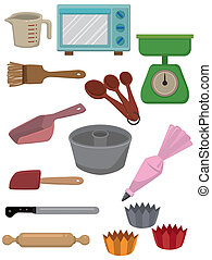 cartoon Bake tool icon  - cartoon Bake tool icon