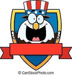 Cartoon Bald Eagle Badge