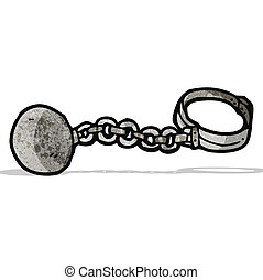 cartoon ball and chain