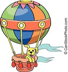 Cartoon Balloon vector isolated on white background