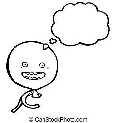 cartoon balloon with face