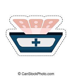 cartoon band plaster first aid