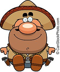 Cartoon Bandito Sitting