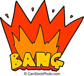 cartoon bang sign