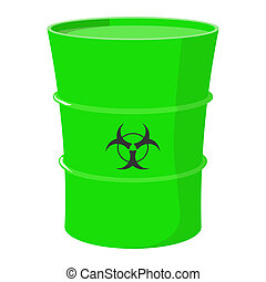 Cartoon barrel with toxic waste