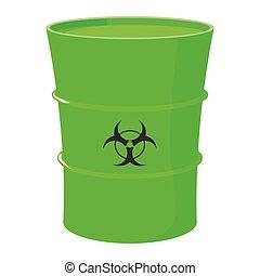 Cartoon barrel with toxic waste