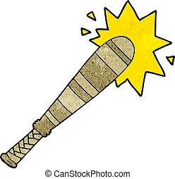 cartoon baseball bat hitting
